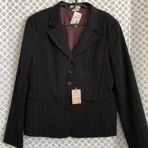 Van Heusen black striped women's stretch blazer